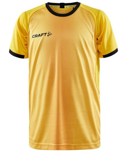 Craft Progress 2.0 Graphic Jersey T-skjorte for barn, Sweden Yellow/Sort
