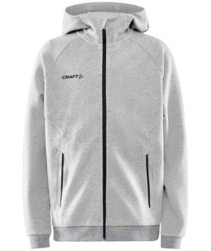 Craft Core Soul Full Zip hoodie till barn, Gråmelerad
