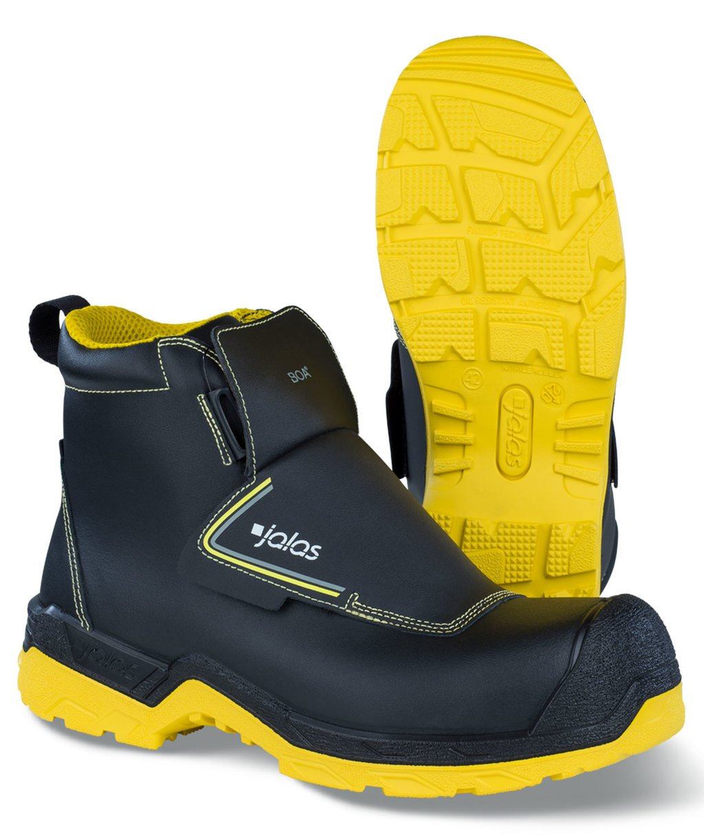 Jalas 1228W safety bootees S3, Black/Yellow
