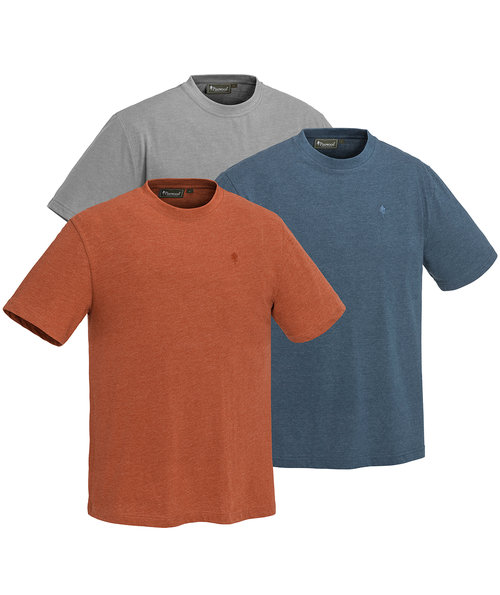 Pinewood Outdoor T-Shirt 3er Pack, Light Grey/Terrac/Dark Dive