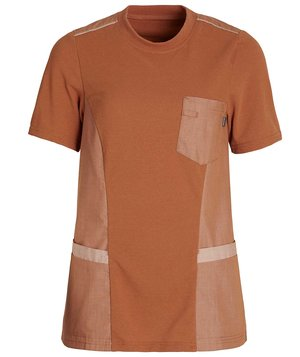 Kentaur dame pique T-shirt, Orange Melange