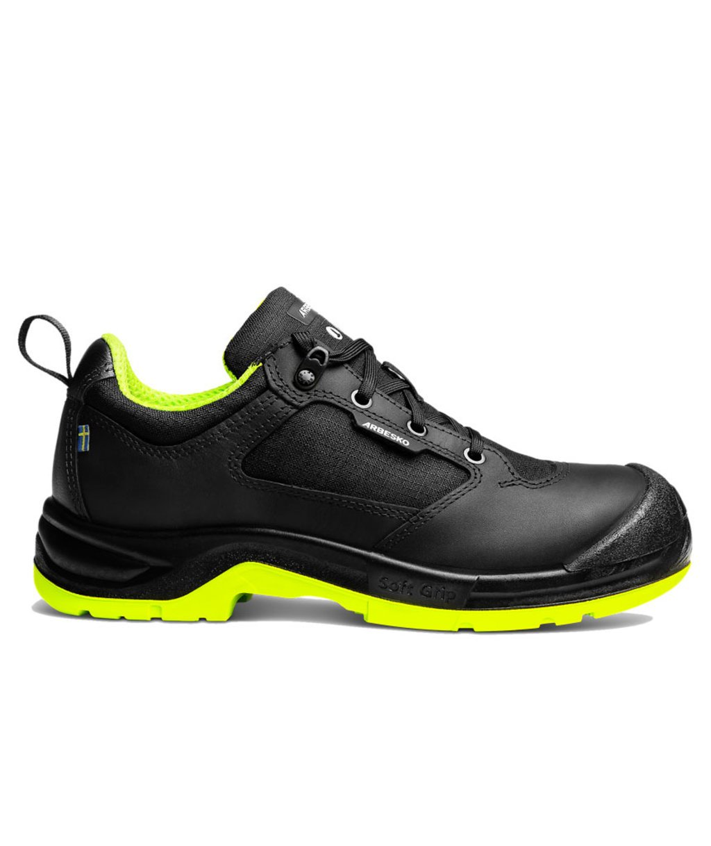 Arbesko 943 safety shoes S3, Black/Lime