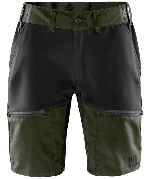 Fristads Outdoor Carbon semistretch shorts, Army Green/Black