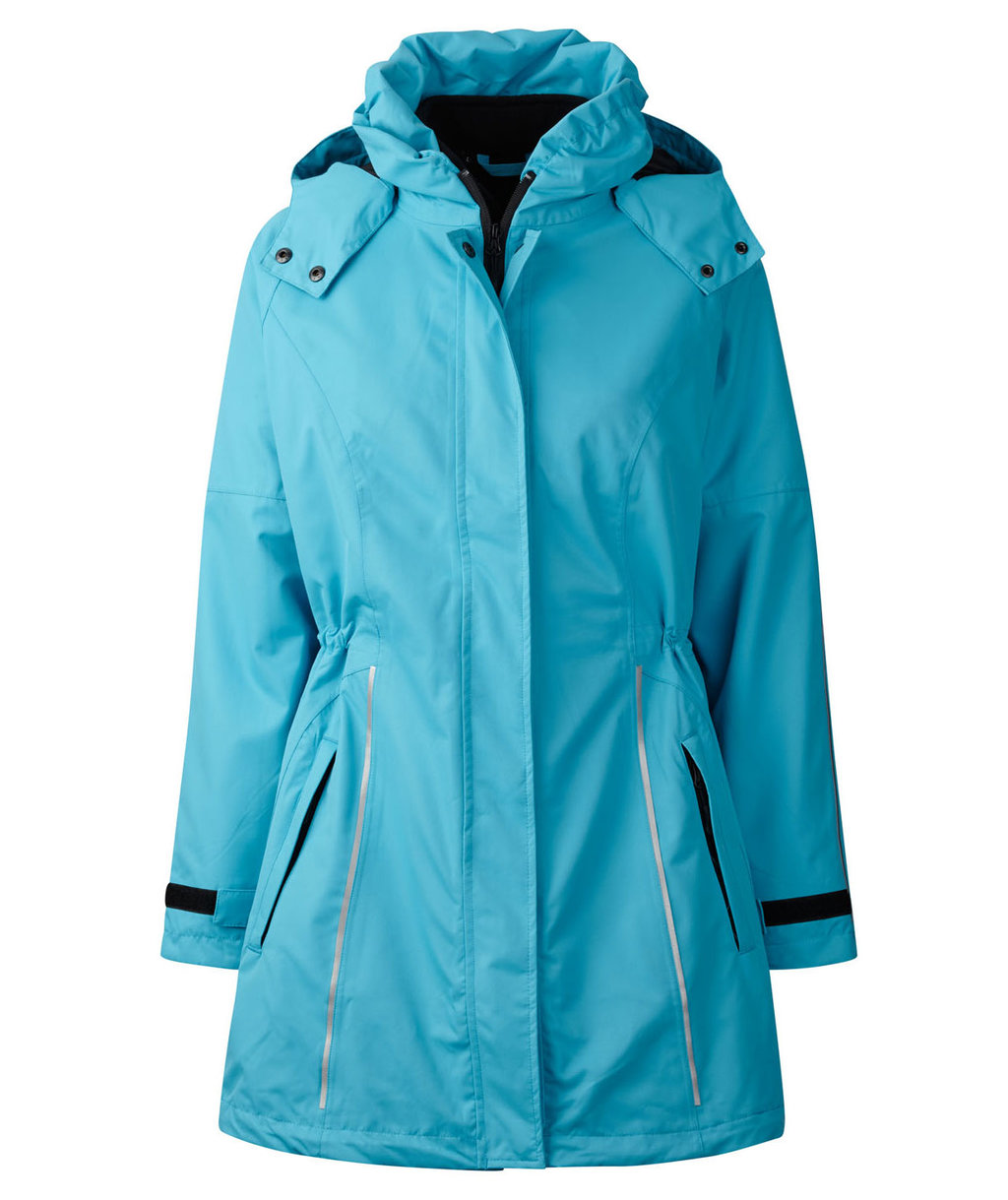Xplor zip-in dame skaljakke, Aqua