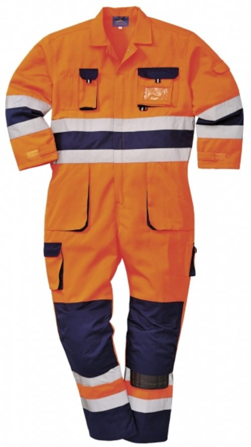 Portwest overall, Varsel Orange/Marinblå