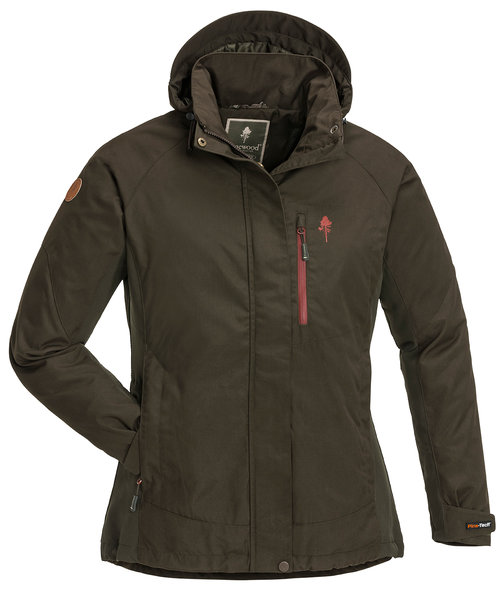 PinewoodCaribou TC Extreme damejakke med insect-stop, Suede Brown/Dark Copper